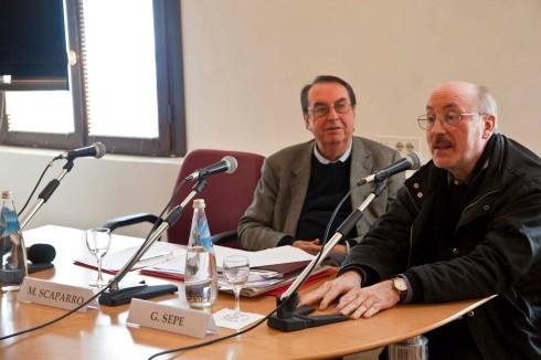 Maurizio Scaparro e Giancarlo Sepe. Foto di Fabio Bortot,Alvise Nicoletti